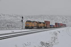 Snow covered Cajon Pass on January 2011